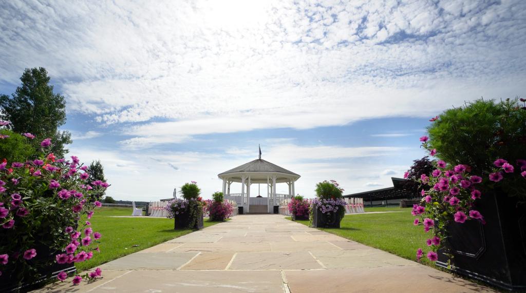 Outdoor wedding venue great yorkshire showground