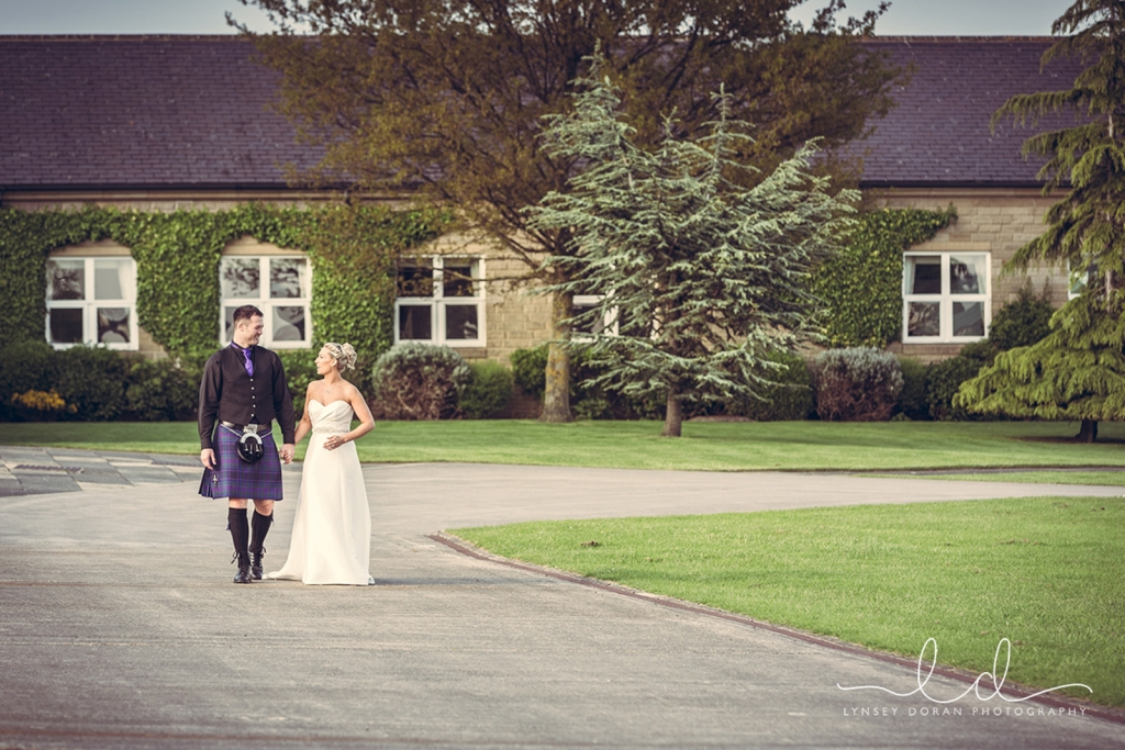 Bride and Groom Pavilions Drive - Lynsey Doran